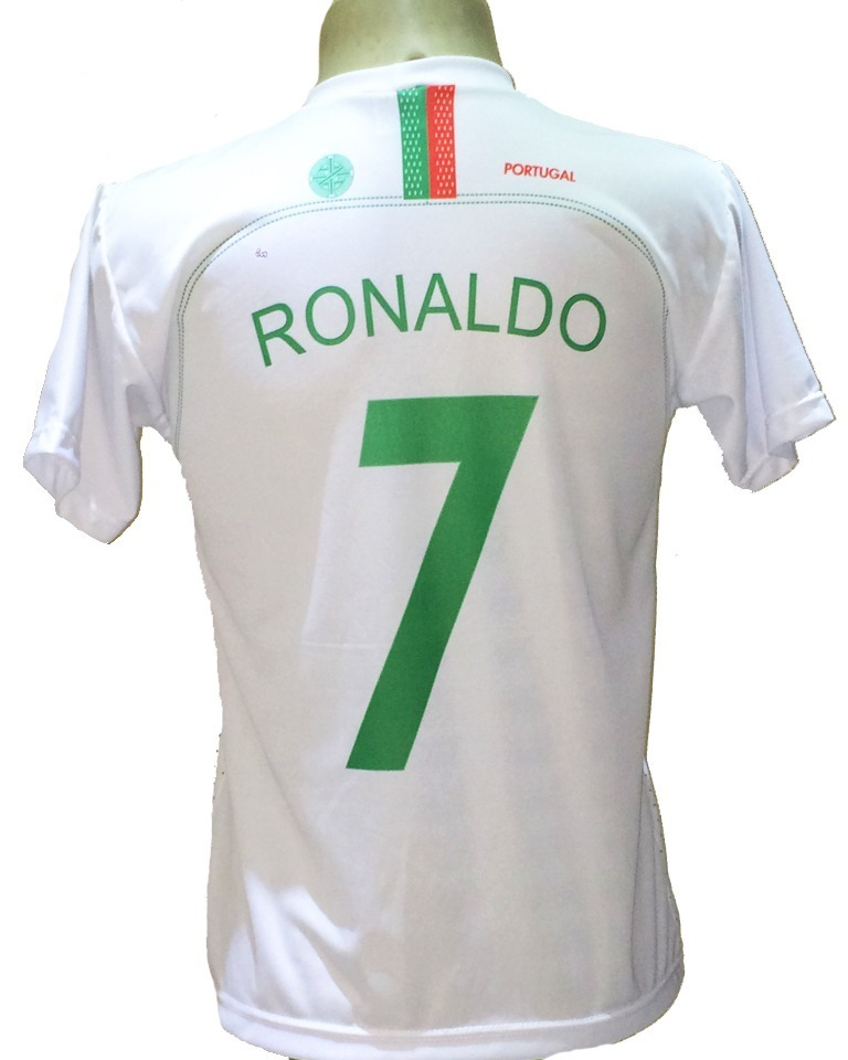 camisa portugal branca cristiano ronaldo 2018 2019. Carregando zoom. 9dfa861a2bf02