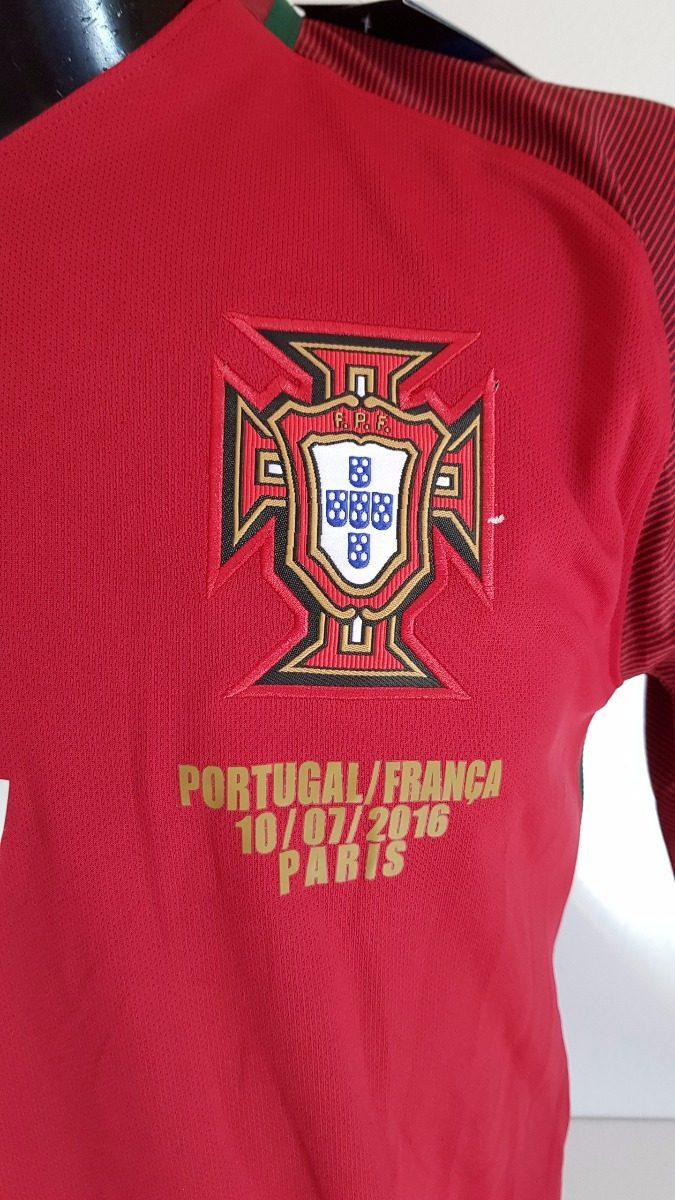 camisa portugal home 15-16 ronaldo 7 final eurocopa 2016. Carregando zoom. 246ae81b906ec