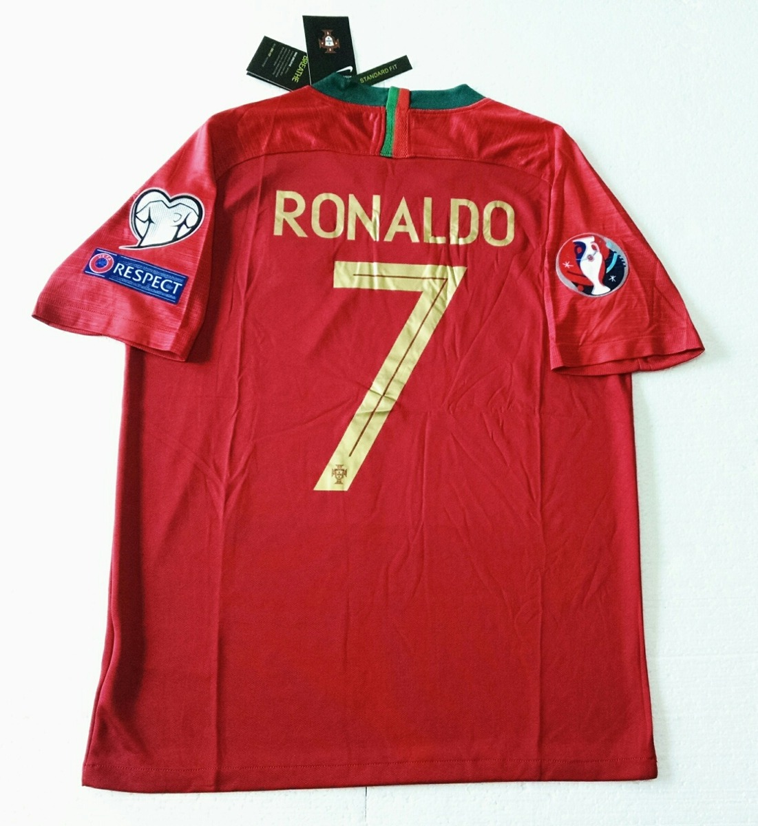 camisa portugal home 2018 - cr7. Carregando zoom. 5b0577841bc53