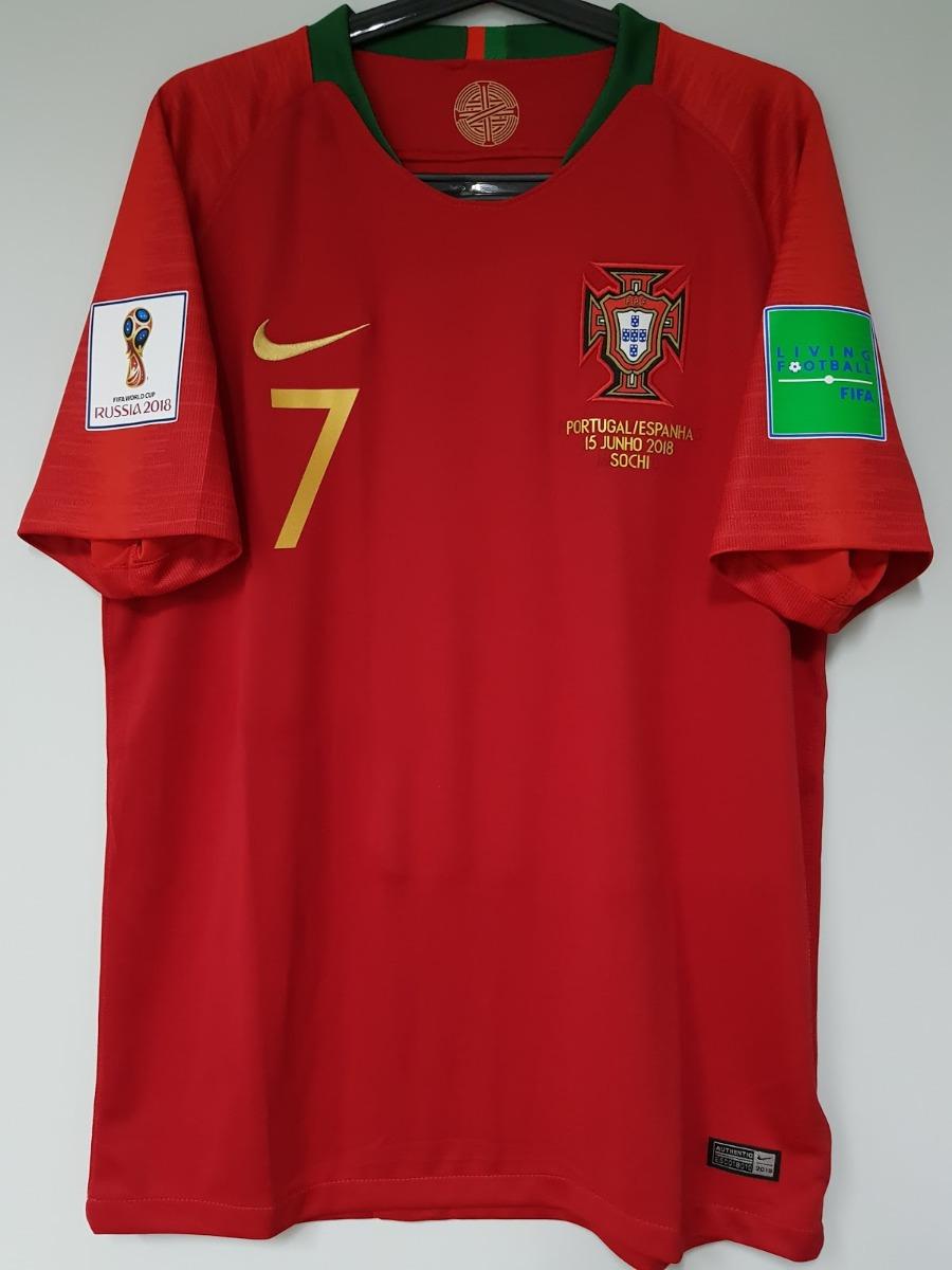 4892096fe9801 camisa portugal home ronaldo   7 copa do mundo 2018. Carregando zoom.