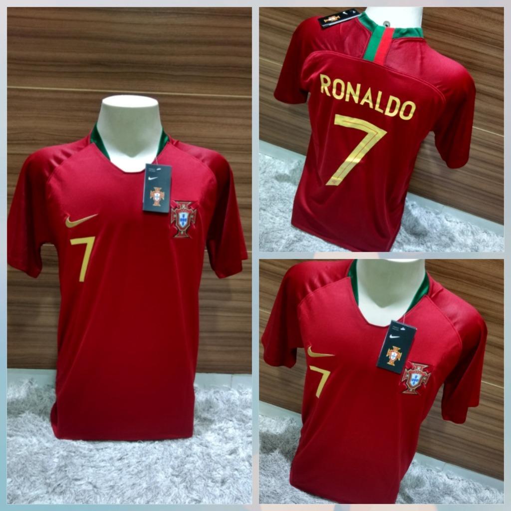 8ec47e054f Camisa Portugal Lançamento 2019 Ronaldo  7 Frete Grátis - R  129