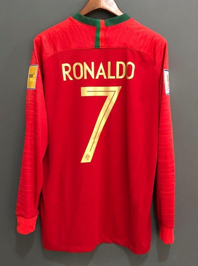 camisa portugal ronaldo   7 copa do mundo 2018 manga longa. Carregando zoom. 2a79091b26dd6