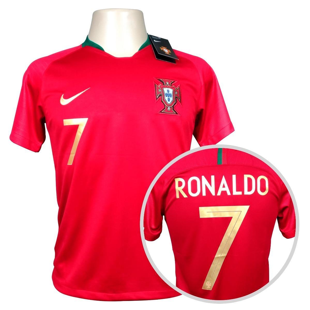 camisa portugal titular copa 2018  7 ronaldo. Carregando zoom. bc7cc2959ed9b