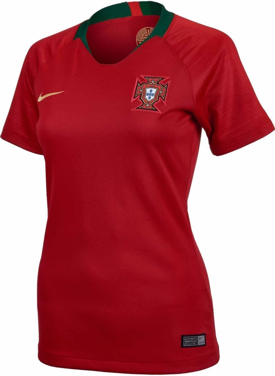 Camisa Portugal - Uniforme 1 Feminina - 2018 - Frete Grátis - R  125 ... a13ec63524e1c