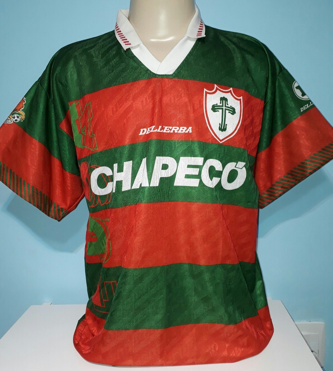 91fb63446f975 camisa portuguesa original 1995 lusa chapecó impecável - 88. Carregando  zoom.
