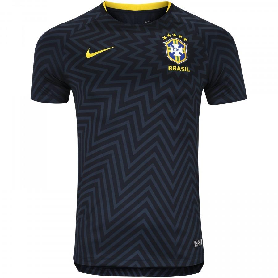 camisa pré-jogo da seleção brasileira 2018 nike - masculina. Carregando  zoom. 44bf66a123c17