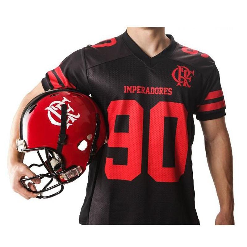 camisa preta de futebol americano imperadores. Carregando zoom. 09841b84ece57