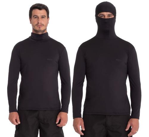 camisa preta proteção uv ninja pesca repelente à insetos