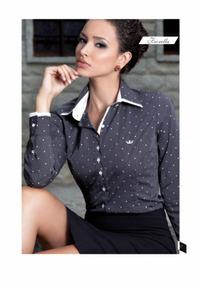 a7fb8d2c6 Camisa Principessa - Camisa Social Manga Longa Feminino no Mercado ...