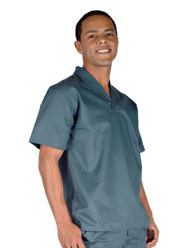 camisa profissional em brim m c gola italiana verde petroleo. Carregando  zoom. 9b0ac43e0dc0d