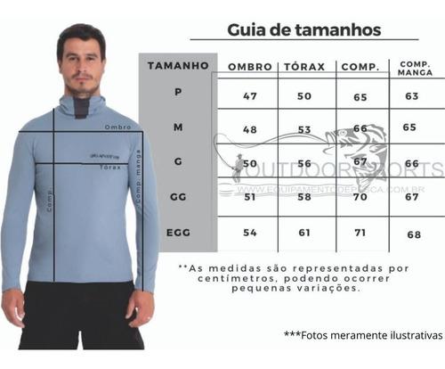 camisa proteção uv ninja pesca c/ touca,repelente à insetos.