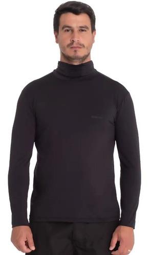 camisa proteção uv50 c/ capuz repelente à insetos preta