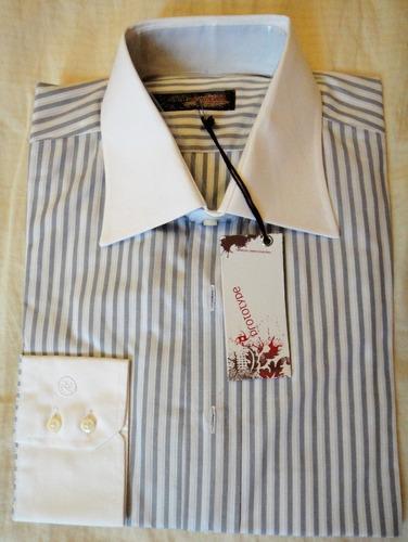 camisa prototype, manga larga, clásica - talle 42 - nuevas!!
