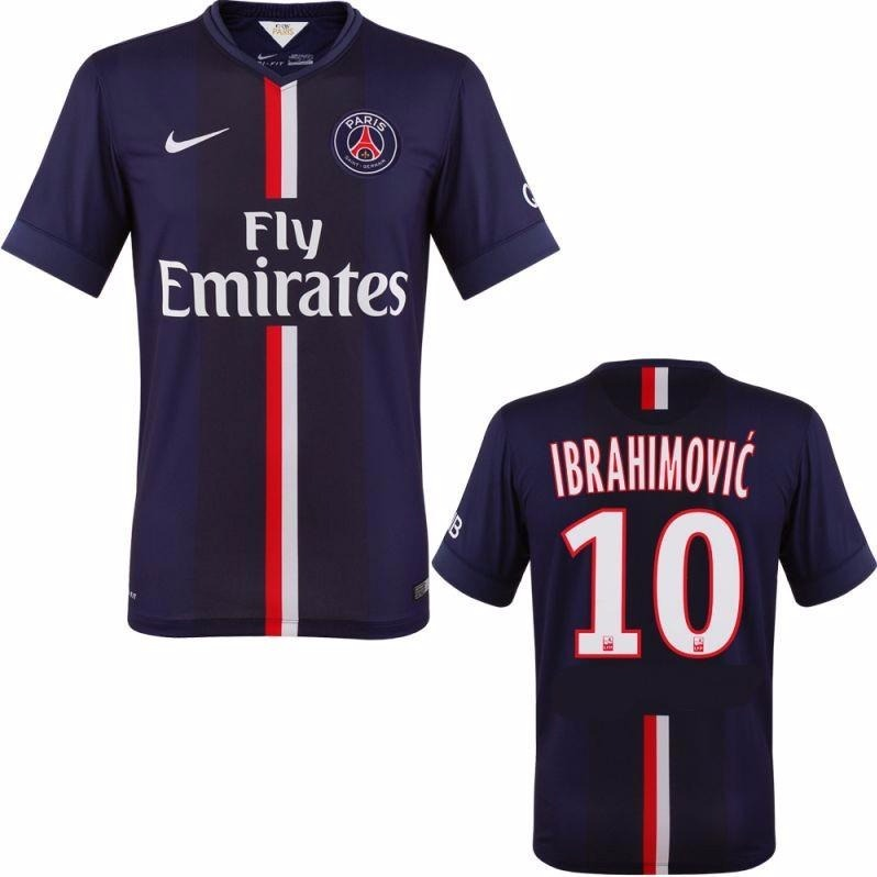 Camisa Psg 2014 15 Ibrahimovic Original Paris Saint Germain - R  199 ... 313e9abb76d69