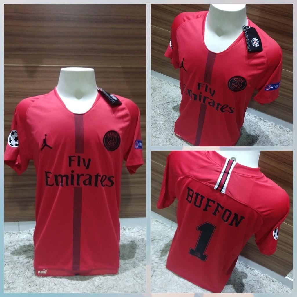 premium selection 76db0 a8061 Camisa Psg Air Jordan Lançamento Buffon #1 Champions League