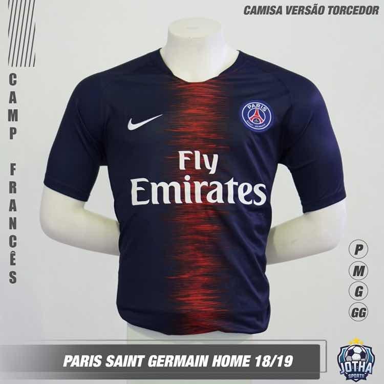 cd0b7395fc Camisa Psg Home 18/19 - R$ 119,90 em Mercado Livre