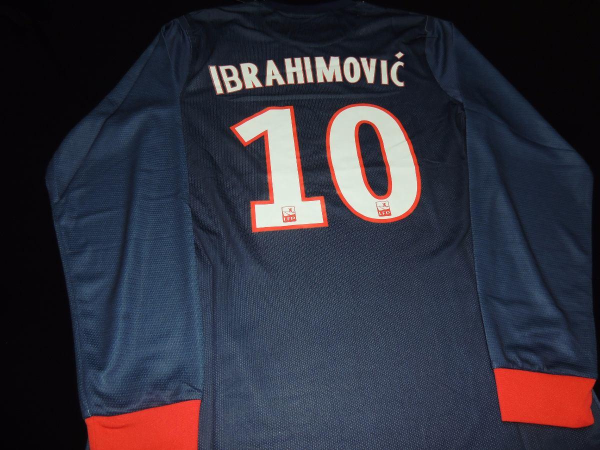 67f3f8487 camisa psg home manga longa 2013  10 ibrahimovic. Carregando zoom.