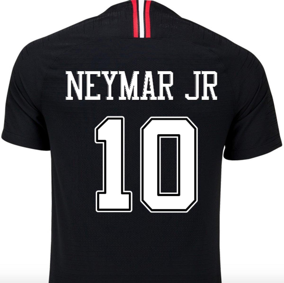 13b774e82 Camisa Psg Jordan 18-19 ( Neymar Jr Mbappé ) Personalizada - R  165 ...