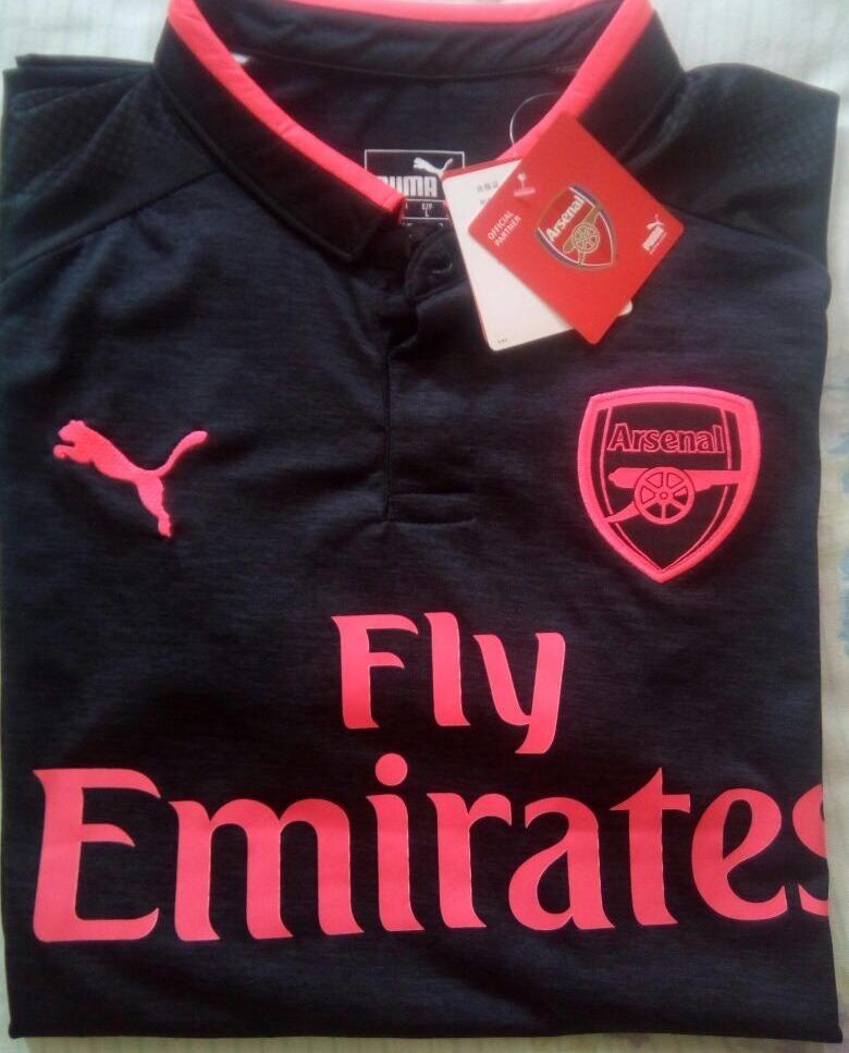 camisa puma arsenal third 2018 s n° - preta e rosa. Carregando zoom. c532c68b1ea49