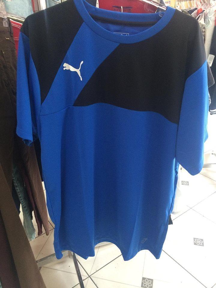 camisa puma br entry training jersey masculina azul e preto. Carregando  zoom. 4dcff9f5eb36c