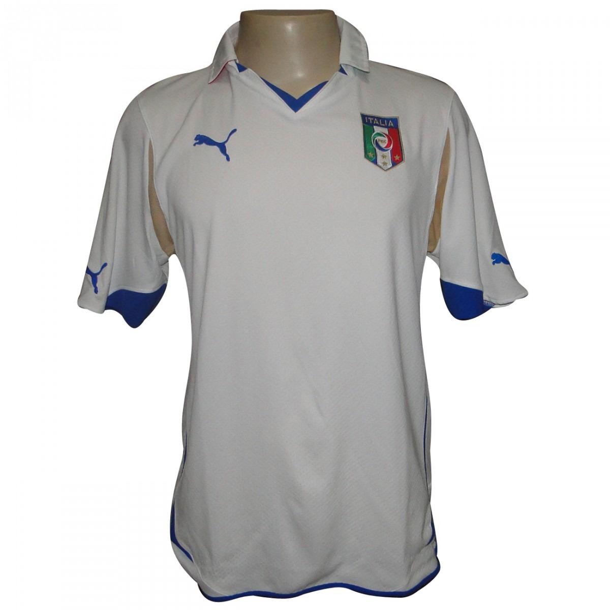 camisa puma italia 2011 2012 - branca tam. g. Carregando zoom. 74087fdcd4b3a