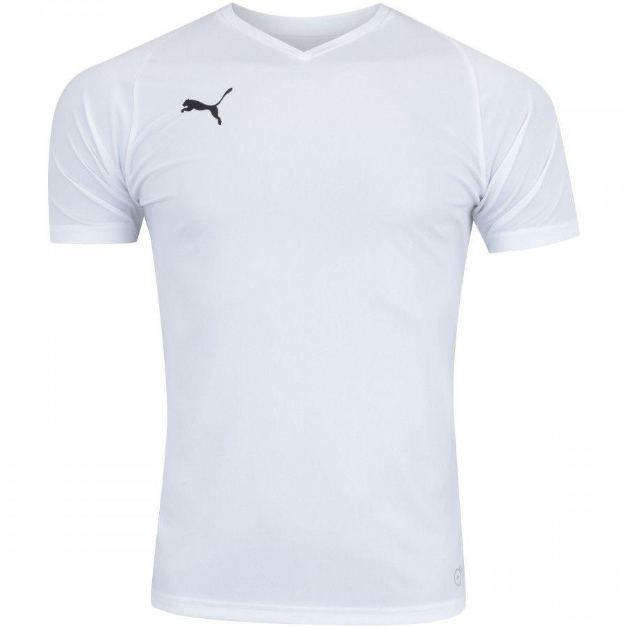 f0134ec75b camisa puma liga jersey core - masculina - branca. Carregando zoom.