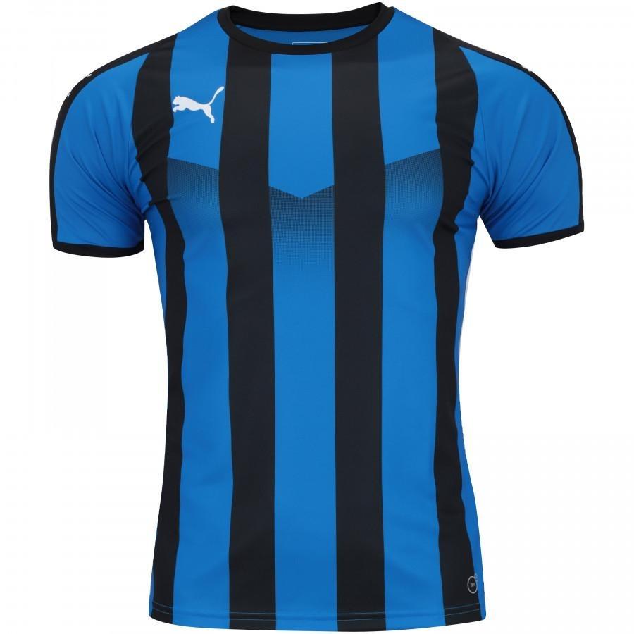 camisa puma liga jersey striped - masculina - cor azul preto. Carregando  zoom. 09a29578b6a5