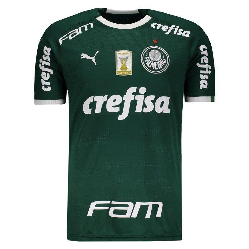 16470505d Camisa Puma Palmeiras I 2019 Com Patch - R  299