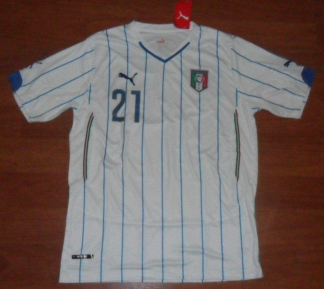 e6ee8304ebf24 camisa puma seleção itália 2014 tam. g pirlo 21 tamanho g. Carregando zoom.