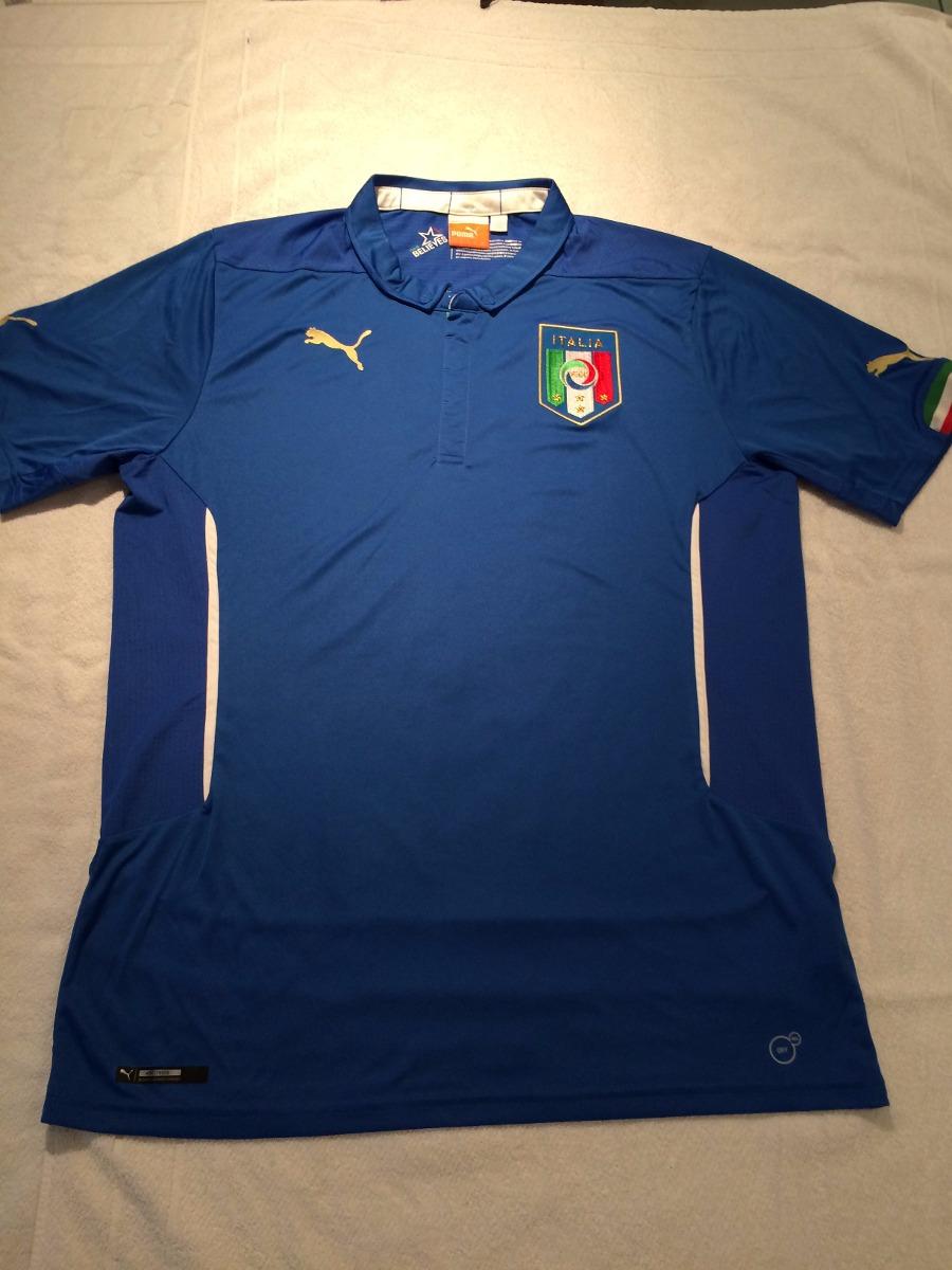 dffa8298e8880 Camisa Puma Seleção Italiana 2014 - Mod. Home 2014 Importado - R ...