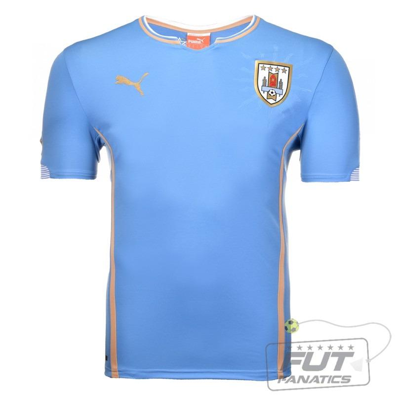 camisa puma uruguai home 2015 juvenil - futfanatics. Carregando zoom. daebeec1780a8
