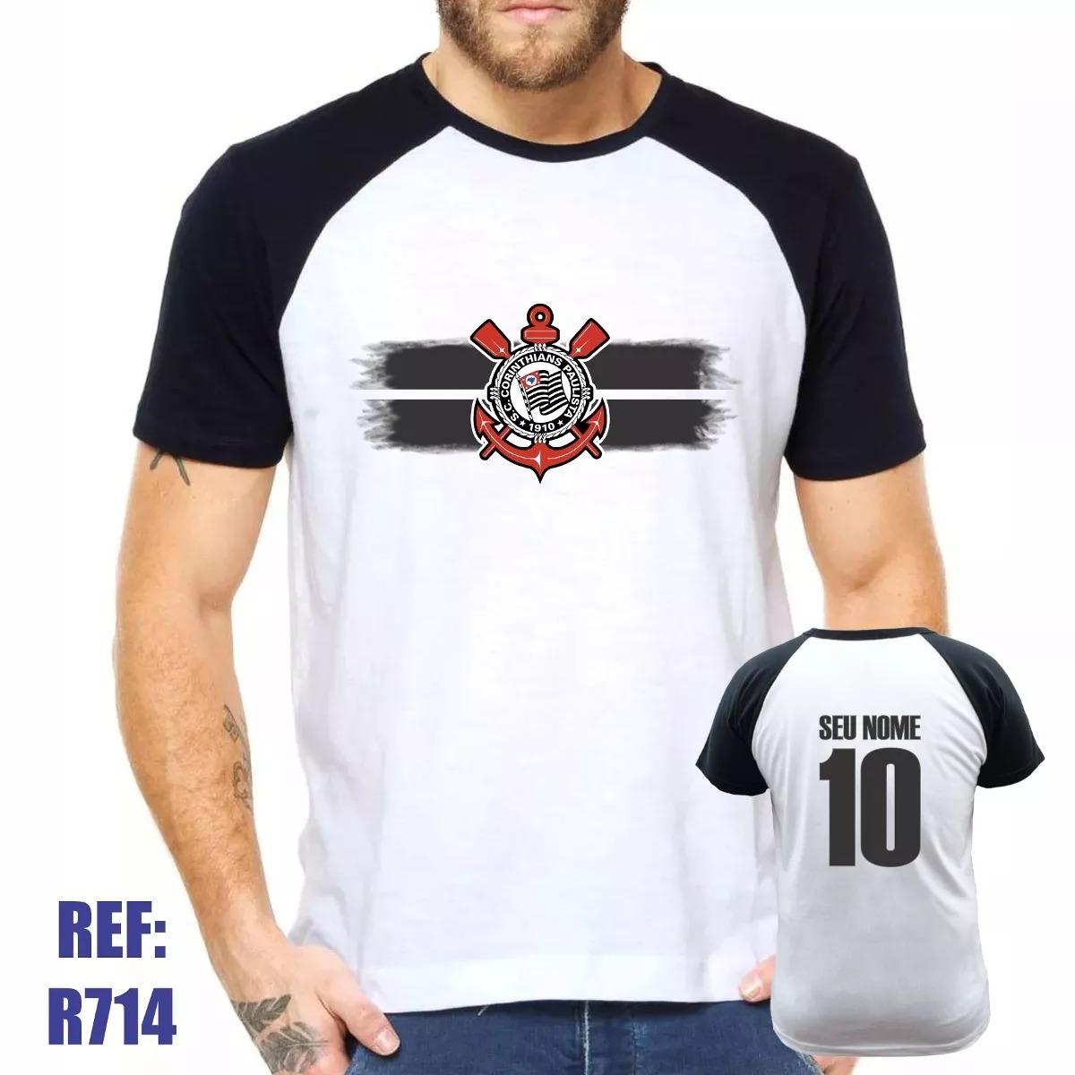 566b742599479 camisa raglan corinthians futebol personalizada com nome. Carregando zoom.