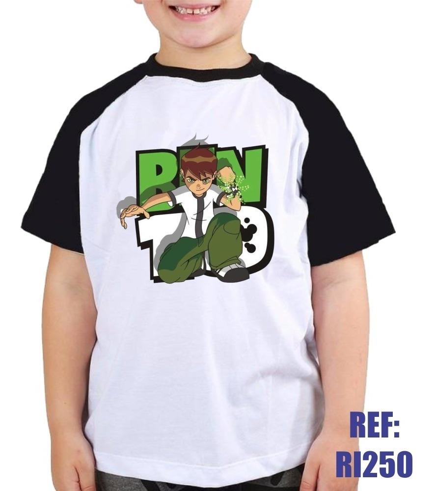Camisa Raglan Infantil Ben 10 Desenho Animado Kids R 30 90 Em