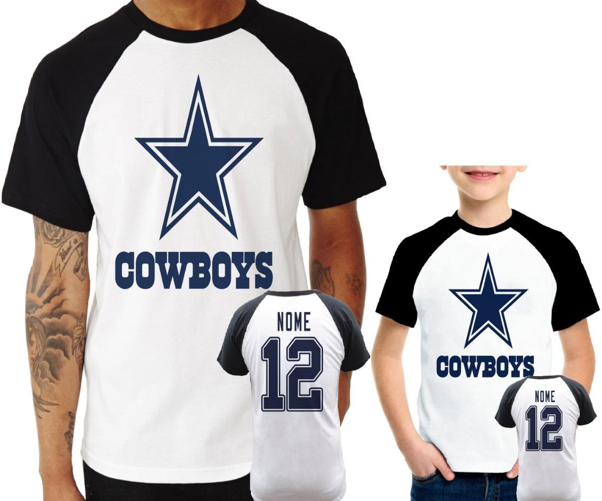 9fc01d351464d camisa raglan + infantil dallas cowboys personalizada nfl. Carregando zoom.