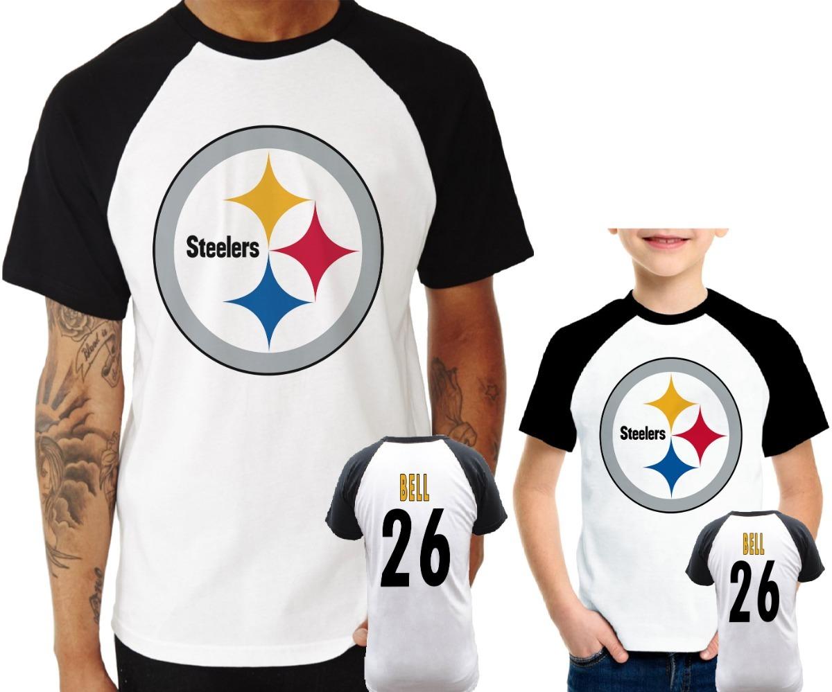 9c982635c Camisa Raglan + Infantil Steelers Bell Nfl - R  129