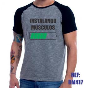 96e80716a7 Camiseta Instalando Musculo no Mercado Livre Brasil