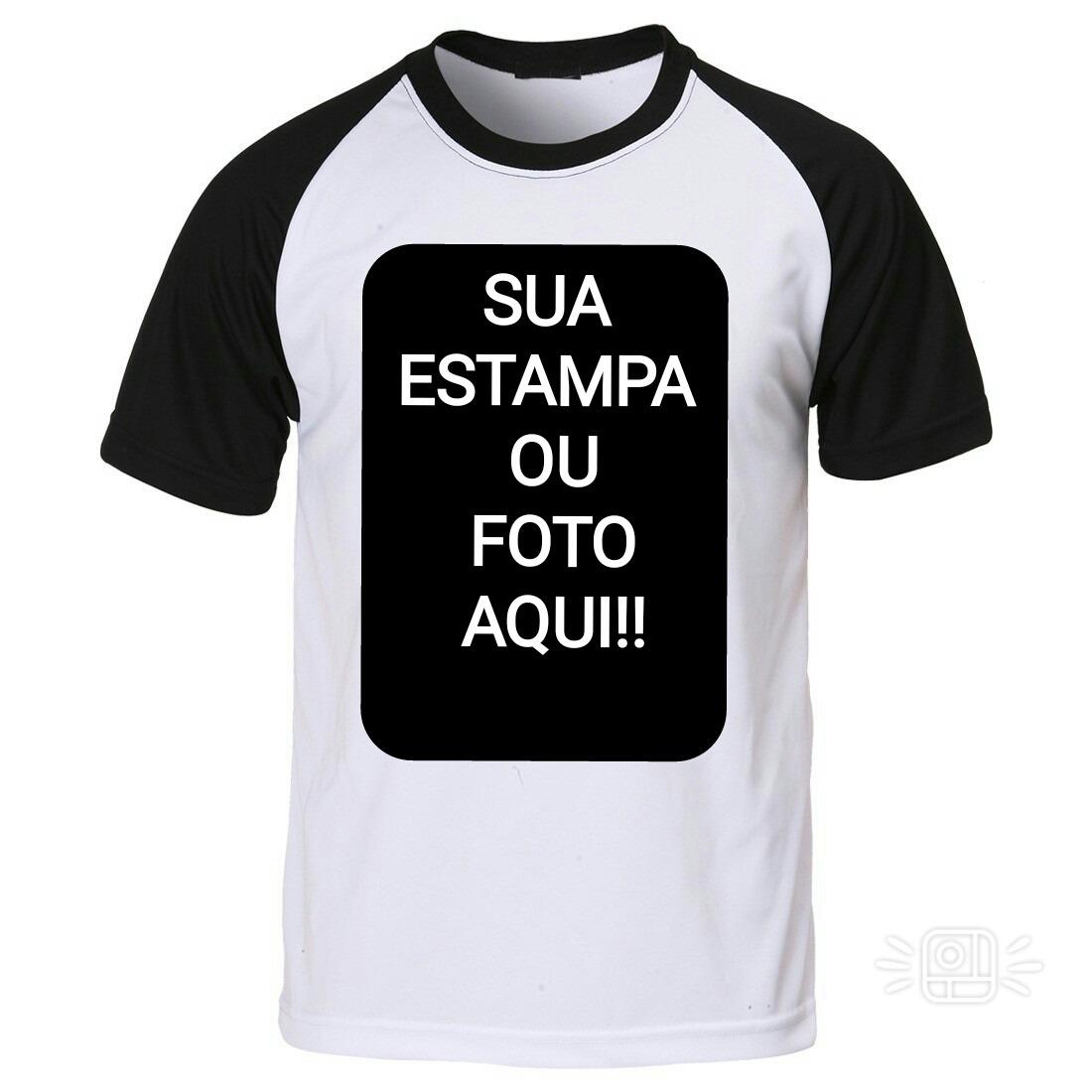 fd6e11ba9 camisa raglan preta personalizada preço baixo. Carregando zoom.