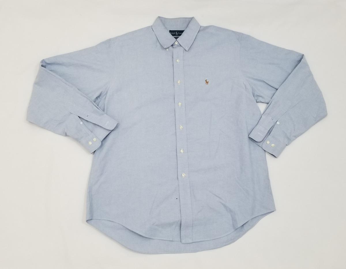 Camisa Ralph Lauren, Grande 16 1 2, 36-37 Yarmouth, Azul. -   550.00 ... 186284969b8