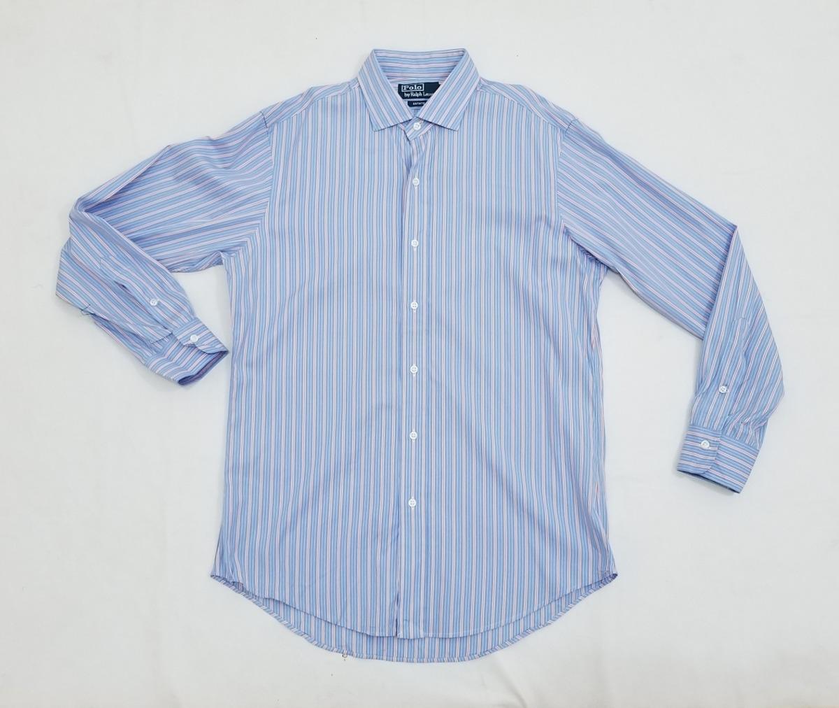 Camisa Ralph Lauren, Hombre 15 1 2- 32 33, Estate Azul Rayas ... f52e1b36df5