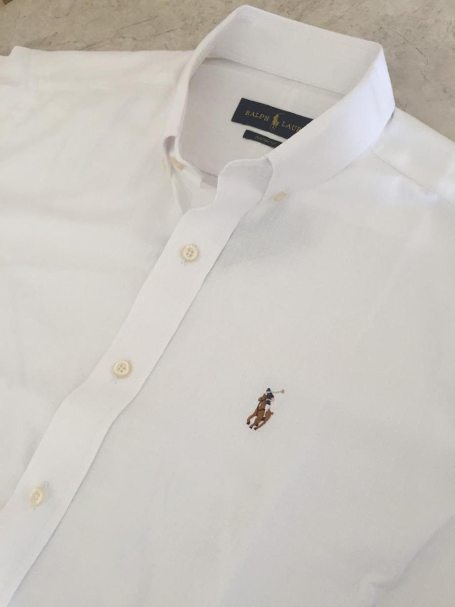 camisa ralph lauren manga curta custom fit branca original. Carregando zoom. 14974a0551b