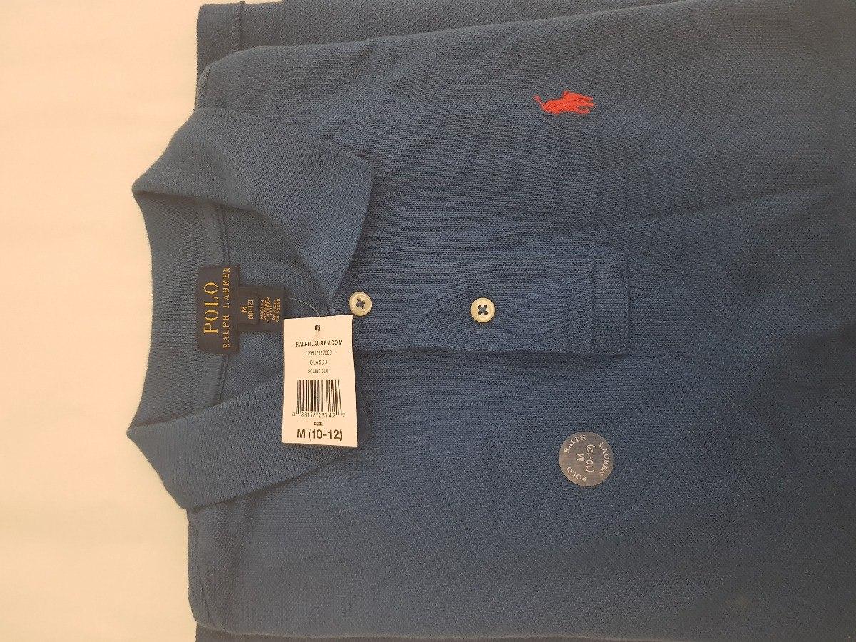 camisa ralph lauren original polo infantil m (10-12) azul. Cargando zoom. 18f91ef485d