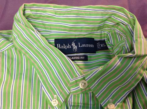 camisa ralph lauren talla verde, talla xl