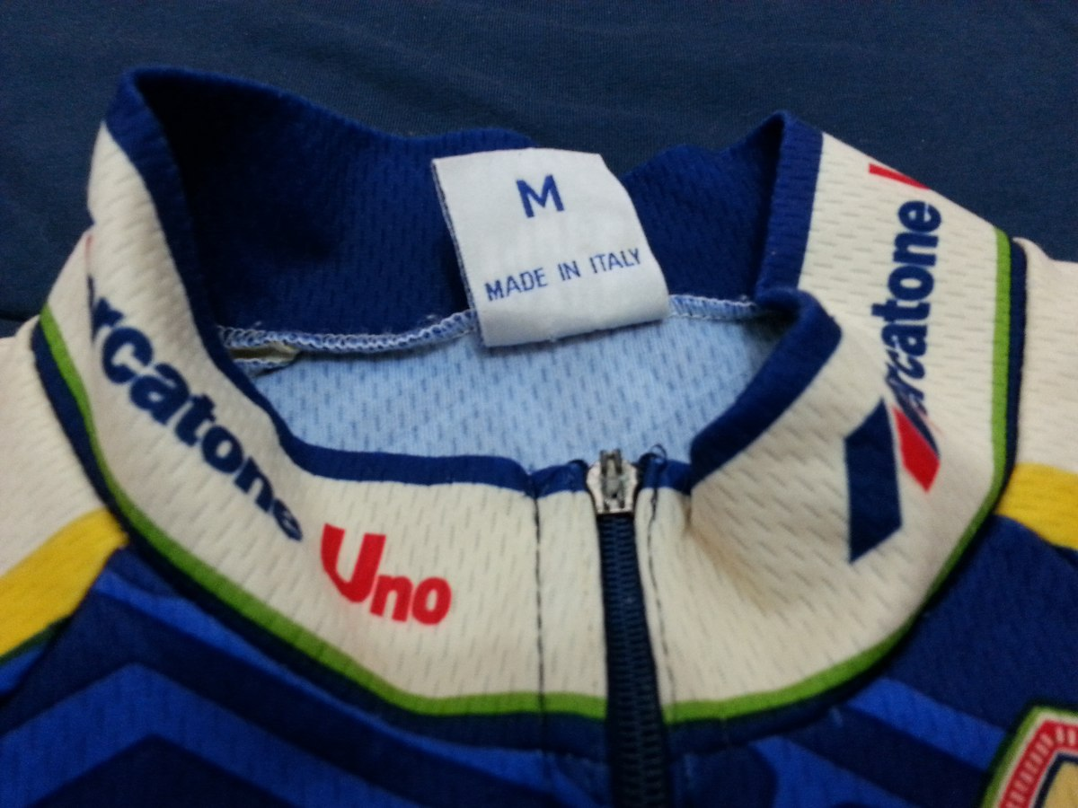 Camisa Rara Italiana Original Ciclismo Bike Sms Mercatoneuno - R ...