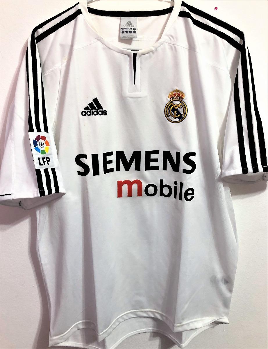 best service 0d3ff 24786 Camisa Real Madrid 2003/04 Zidane #5 Uniforme 1