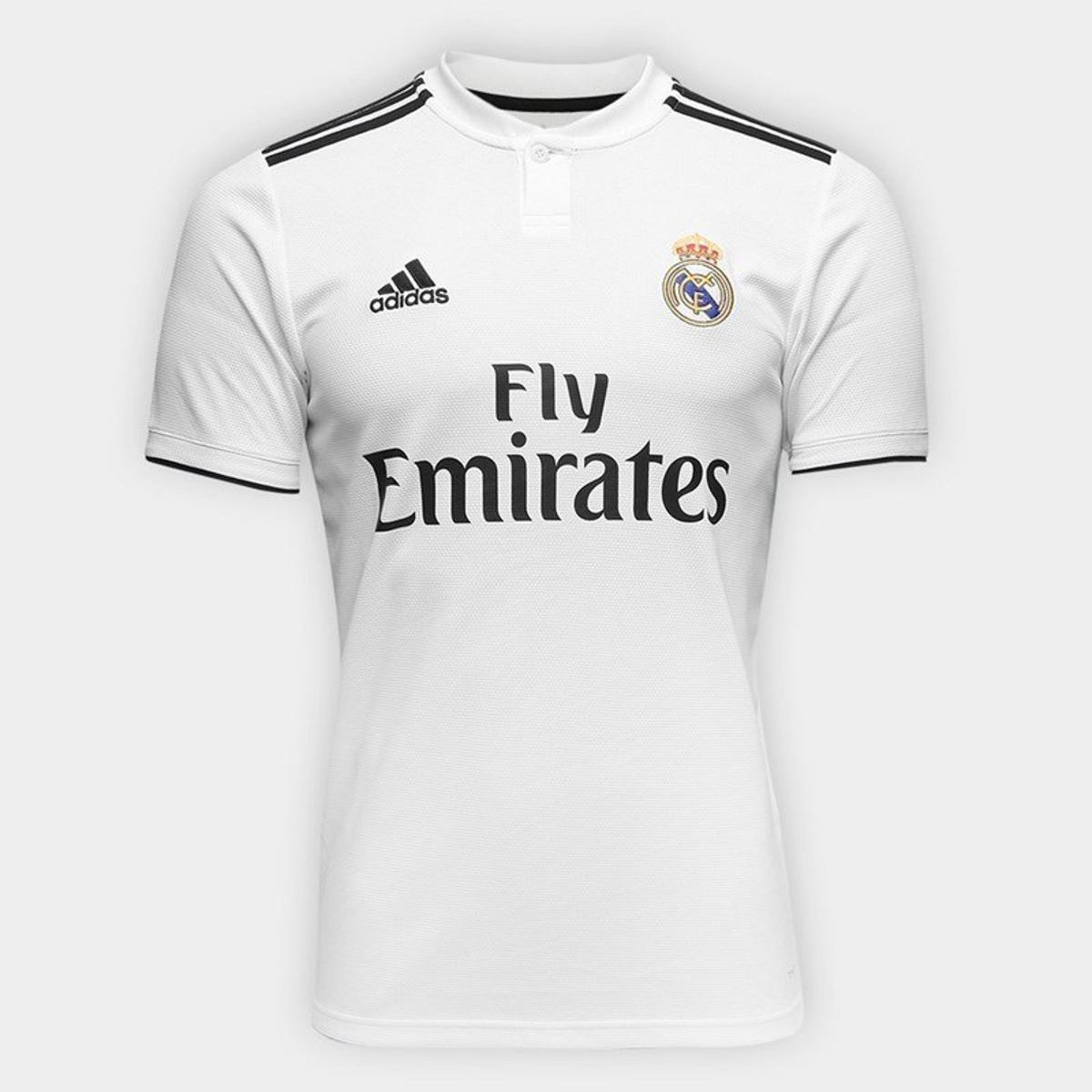 d2c6ca7a Camisa Real Madrid 2018-2019 Uniforme 1 Frete Grátis - R$ 129,99 em ...