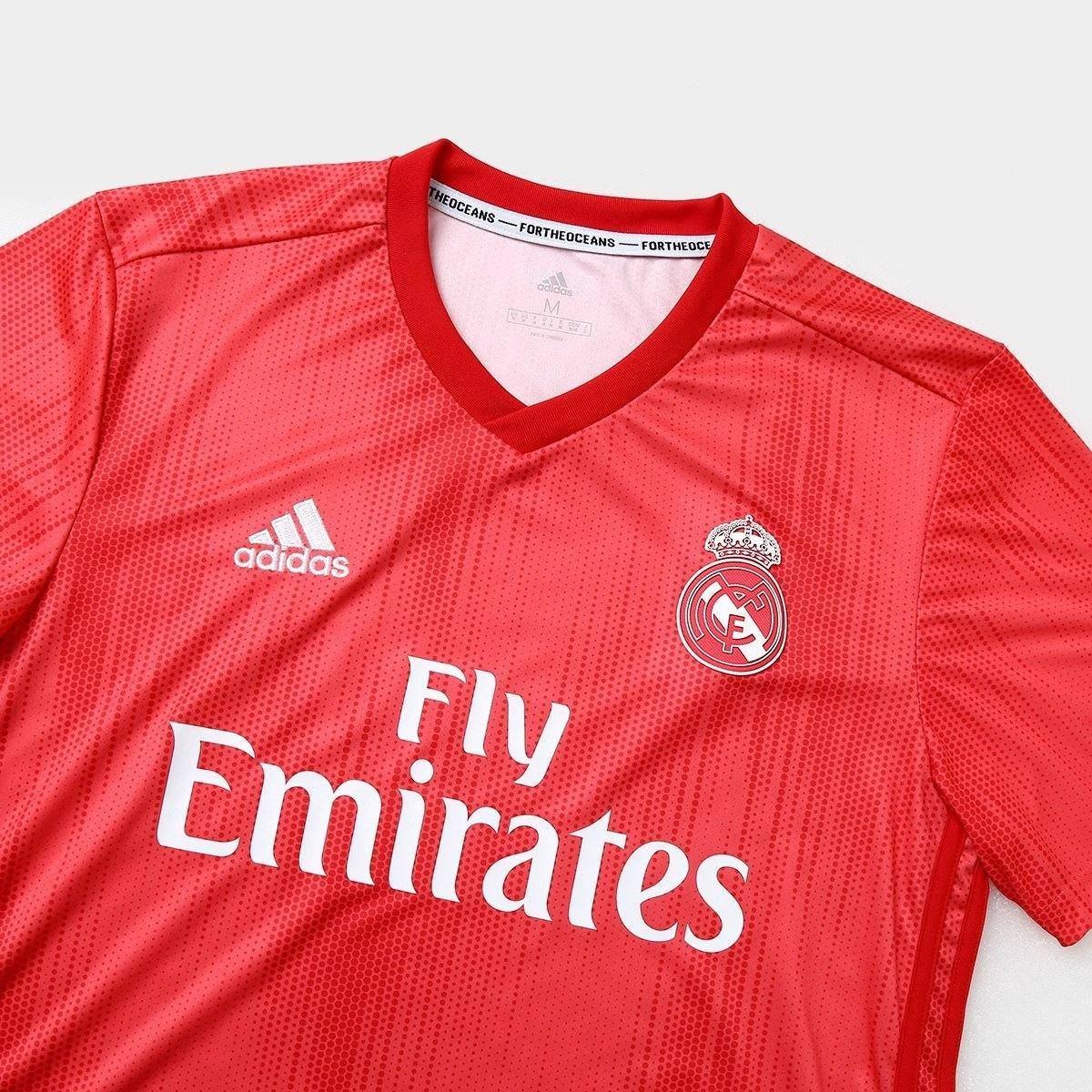 51d59632 Camisa Real Madrid 2018-2019 Uniforme 3 Frete Grátis - R$ 135,96 em ...