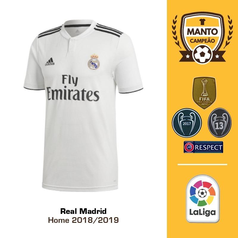 96129ef4 camisa real madrid 2018/2019 home uniforme 1 bale modric. Carregando zoom.