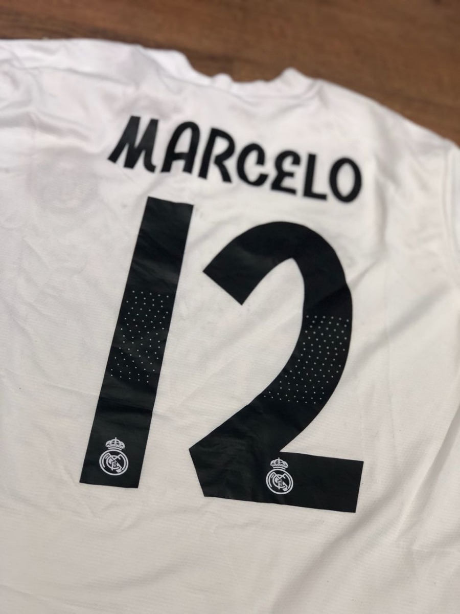 cffda55516 ... camisa real madrid 2018 2019 marcelo 12 + patch original. Carregando  zoom.