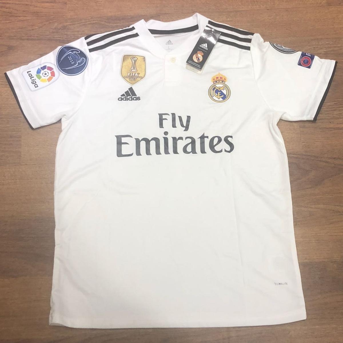 7554cb7e35f9c camisa real madrid 2018 2019 marcelo 12 + patch original. Carregando zoom.