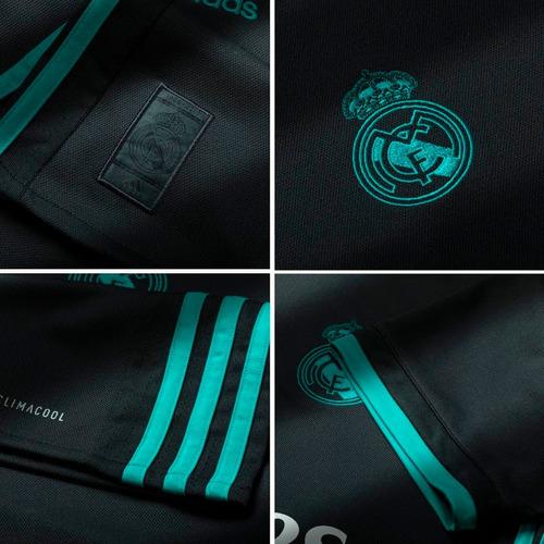 d2ca702ae44 Camisa adidas Real Madrid Preta 2018 Ronaldo